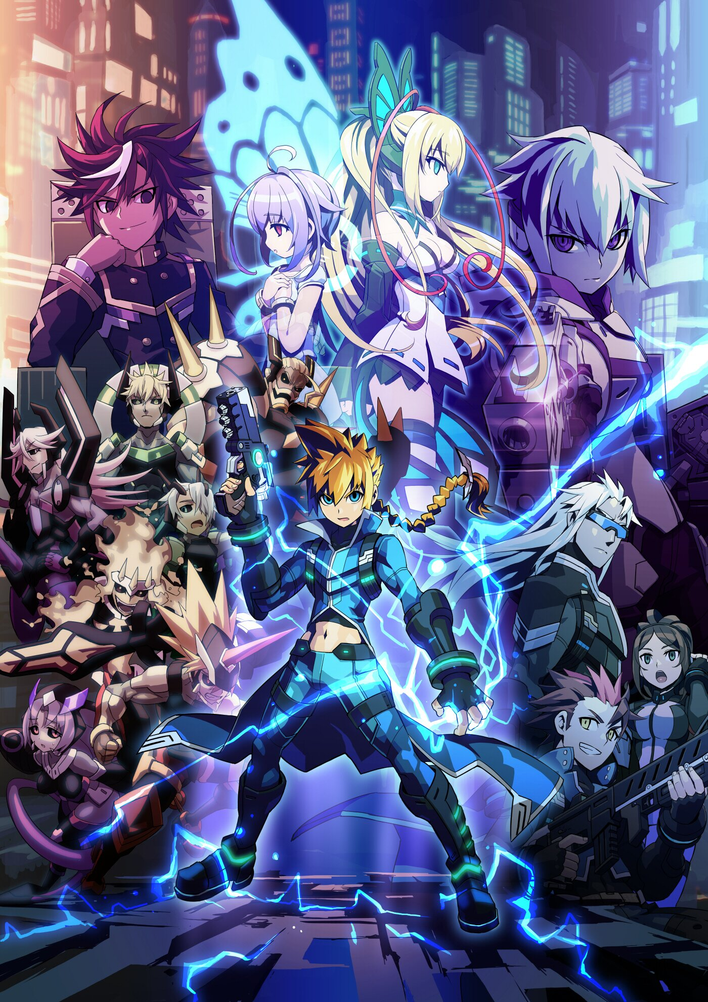 azure striker gunvolt art