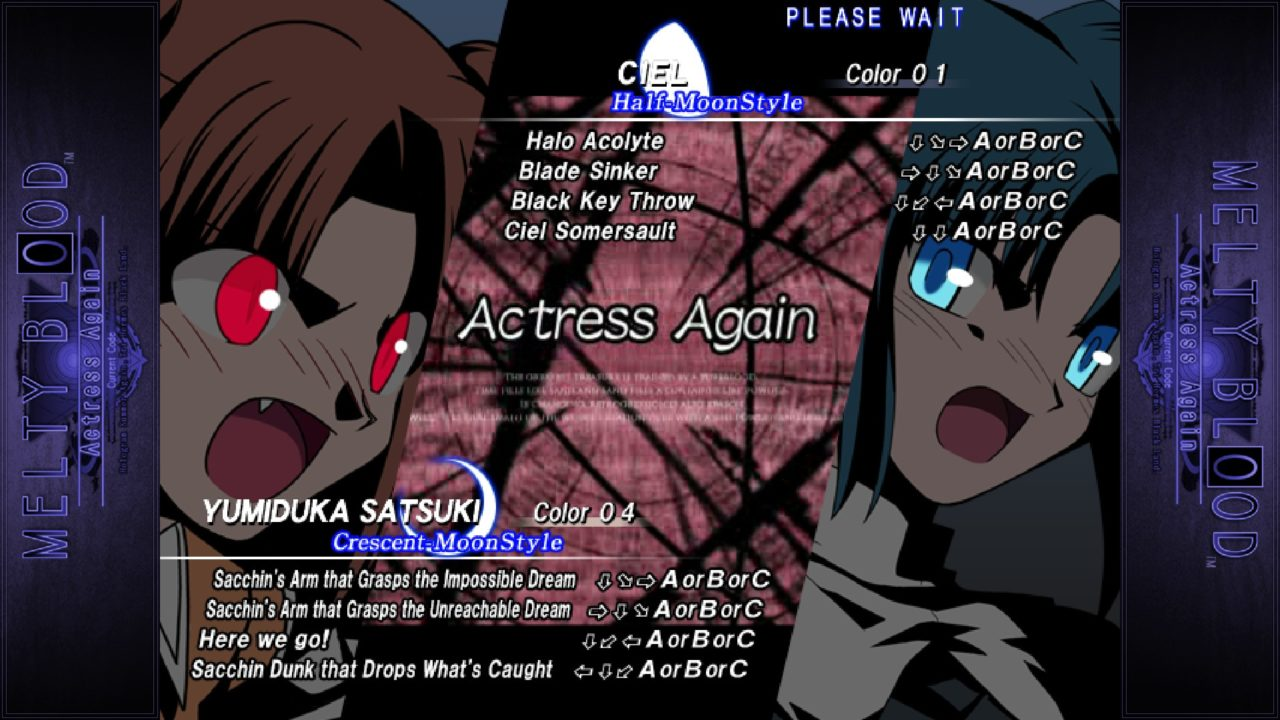 Melty Blood Actress Again Current Code img (1)