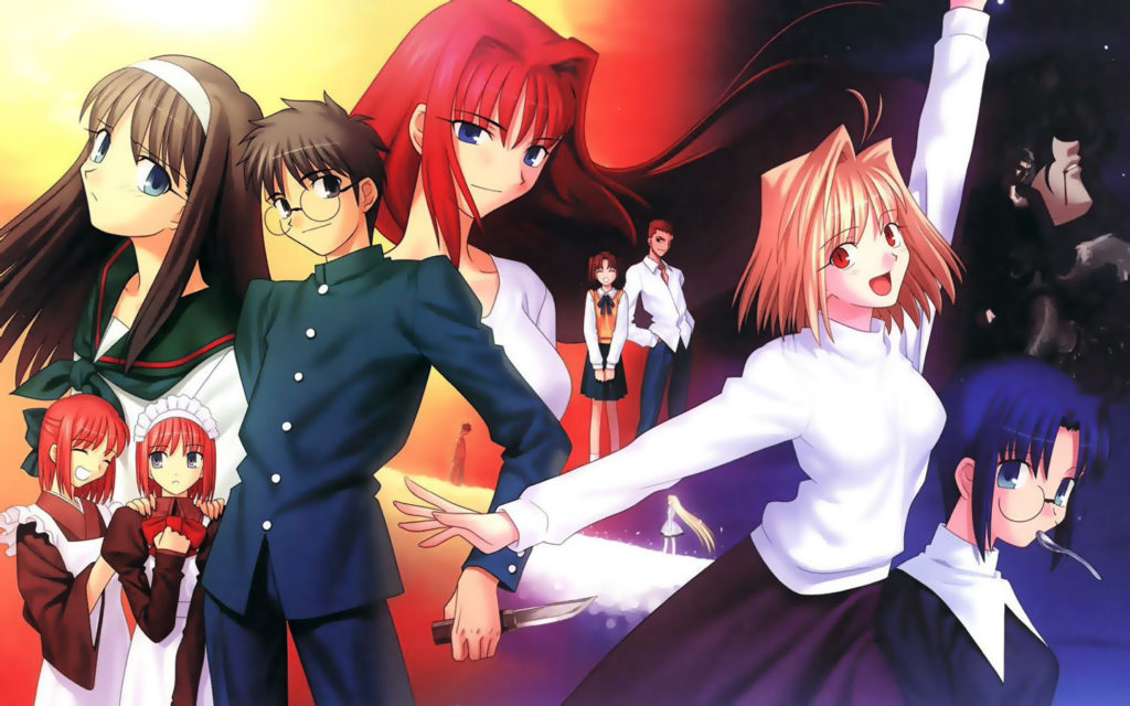 Tsukihime, la serie visual novel a cui si ispira il cast di Melty Blood.