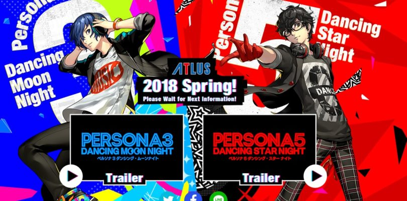 Persona 3: Dancing Moon Night e Persona 5: Dancing Star Night arriveranno su PS4 e PS Vita