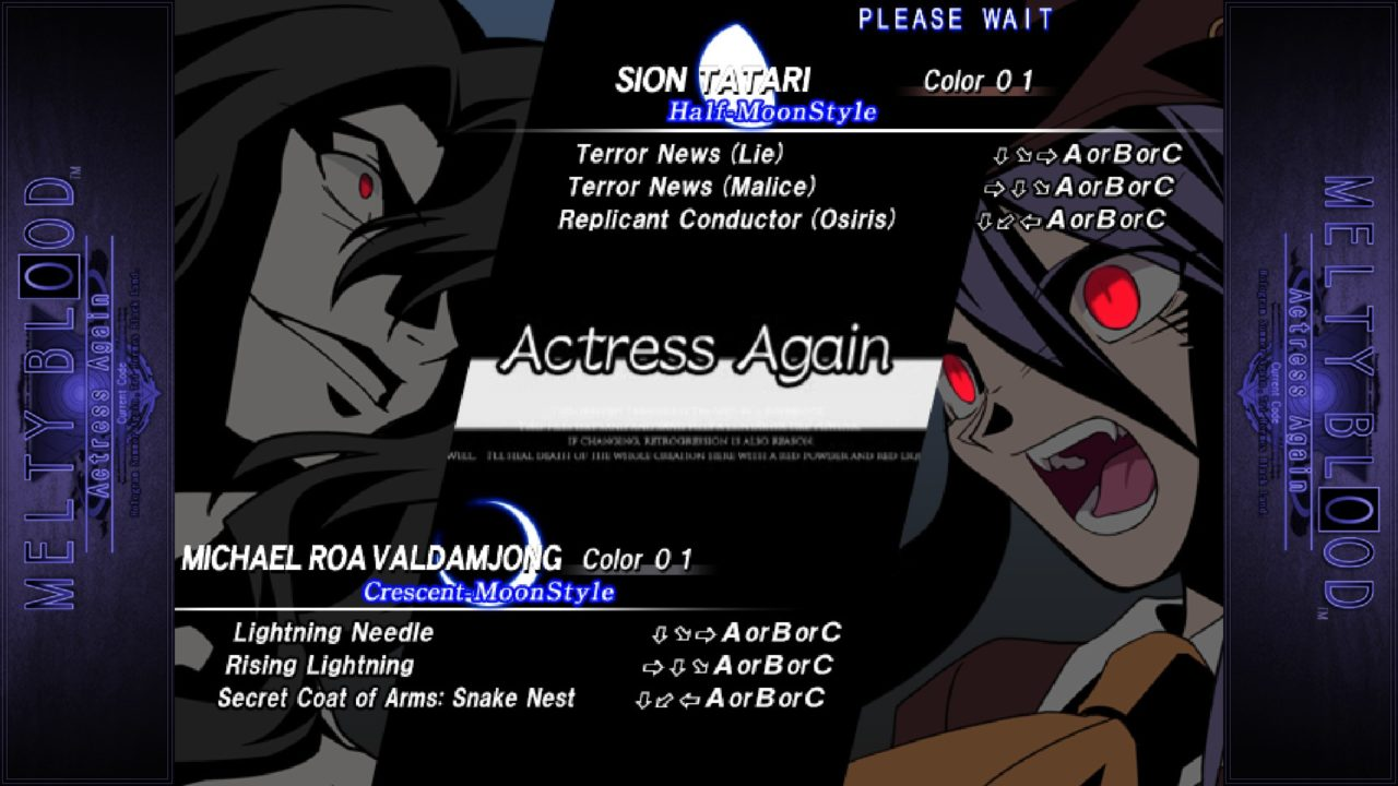 Melty Blood Actress Again Current Code img (9)