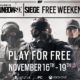 Rainbow Six Siege annuncio Free weekend