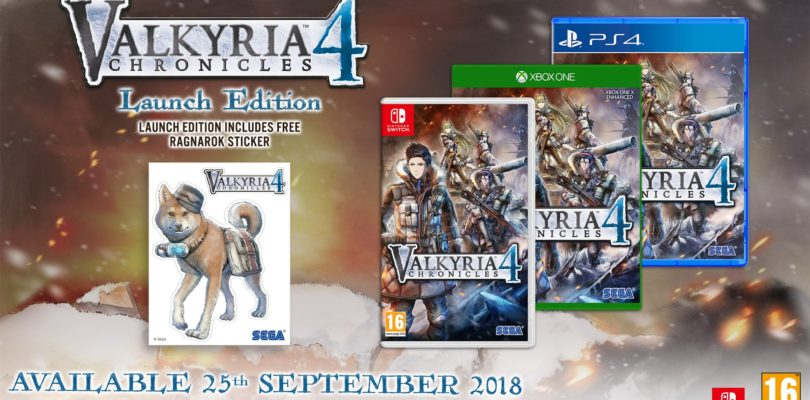 Valkyria Chronicles 4 arriva a settembre su PS4, Xbox One, Nintendo Switch e PC
